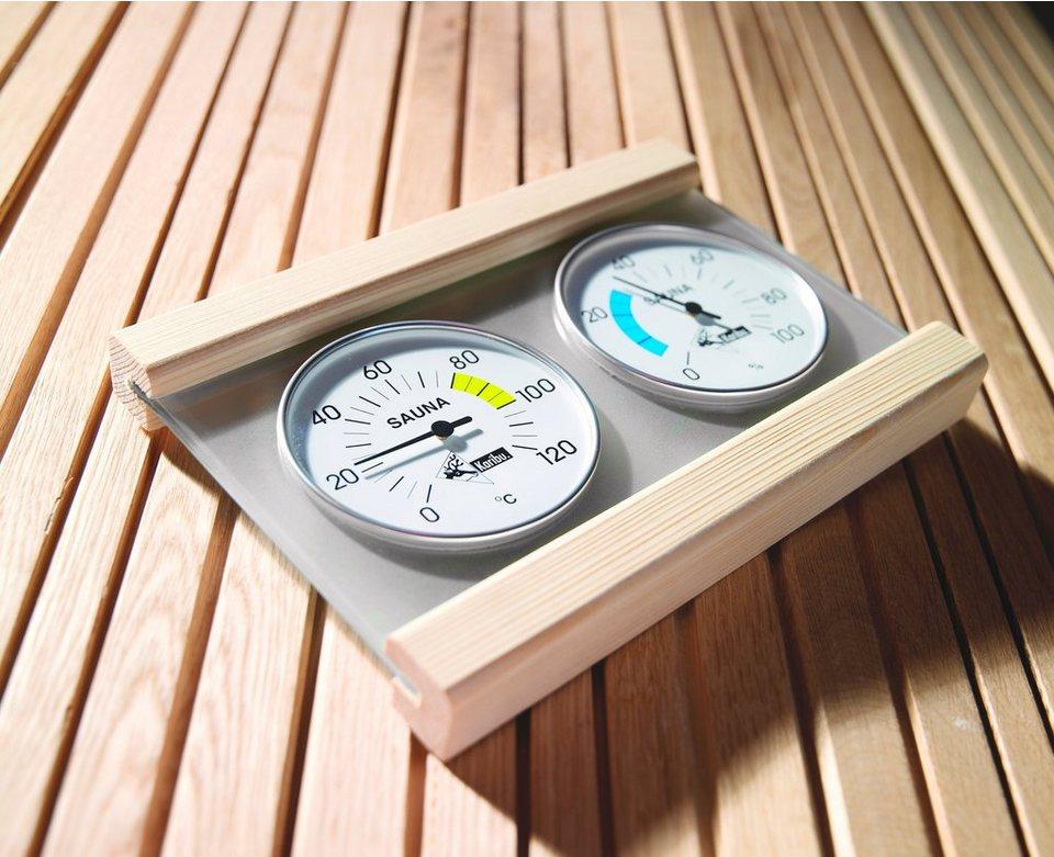 Karibu Klimamessstation »Premium«, mit Thermometer und Hygrometer in natur