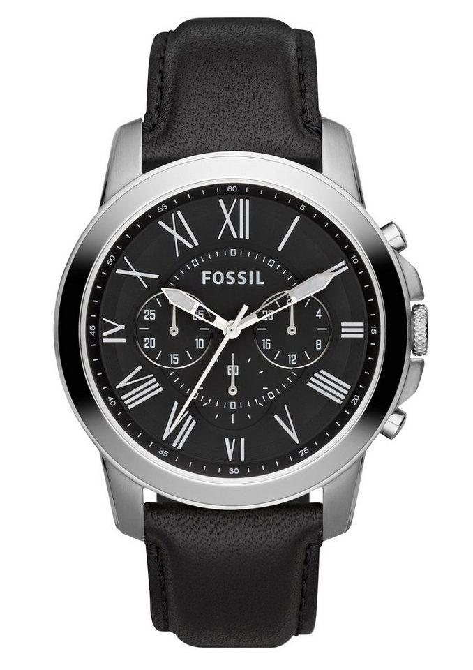 "Fossil, Chronograph, ""GRANT, FS4812"" in schwarz"