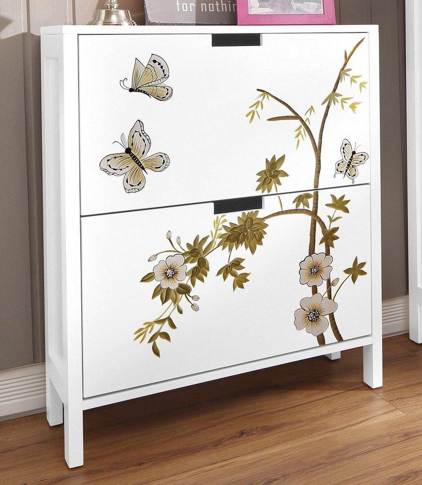 home affaire schuhschrank flower online kaufen otto. Black Bedroom Furniture Sets. Home Design Ideas