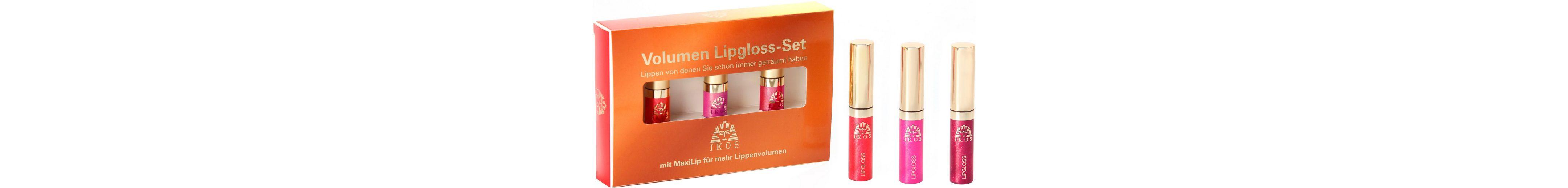 Ikos, »Volumen Lipgloss-Set«, Lipgloss mit 3D-Effekt