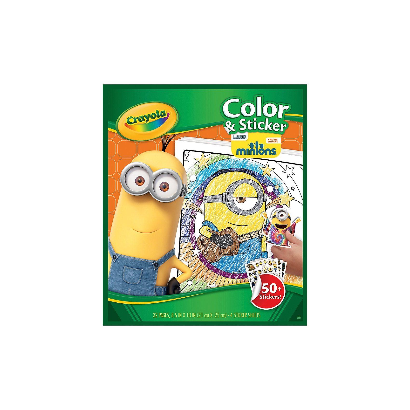 Crayola Ausmalbögen mit Stickern Minions, 48 Blatt