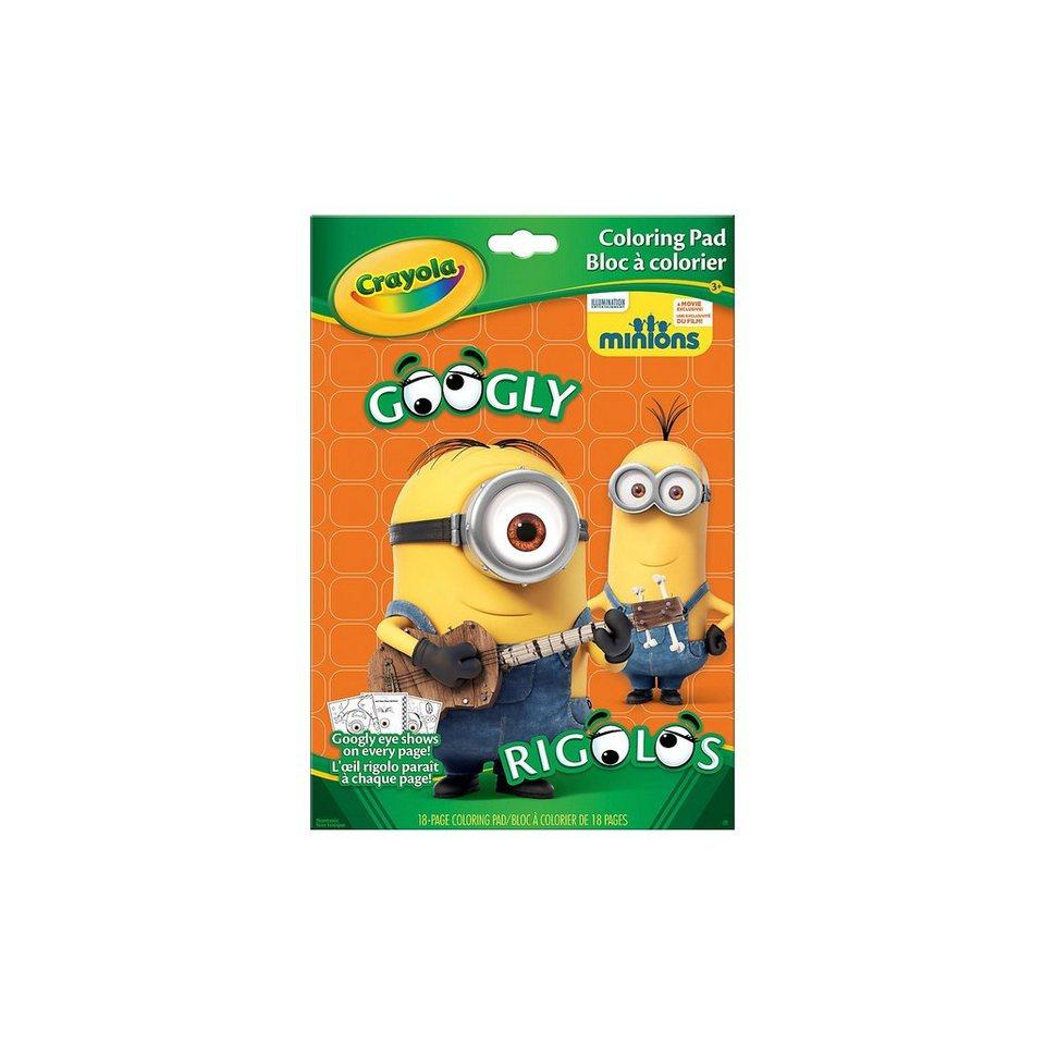 Crayola Ausmalbögen Googly Eyes Minions, 18 Blatt