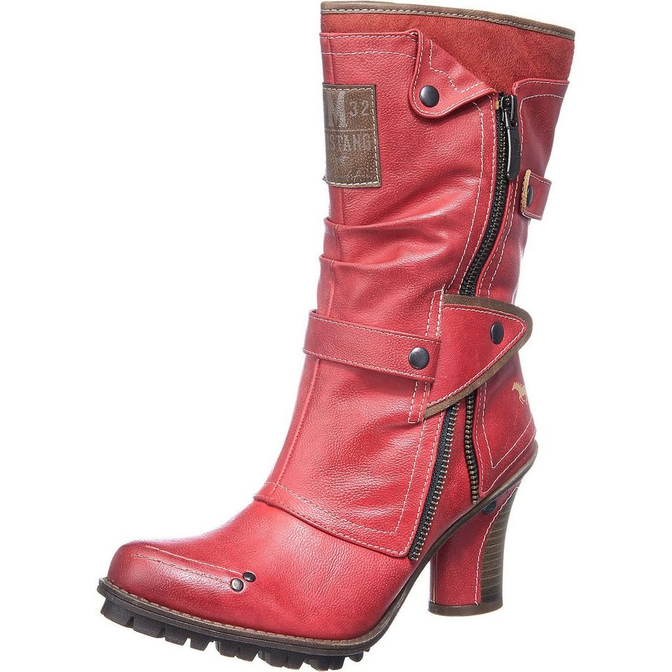 MUSTANG Stiefel in rot