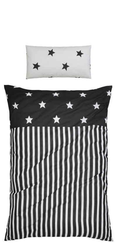 bettw sche grau mit sternen m belideen. Black Bedroom Furniture Sets. Home Design Ideas