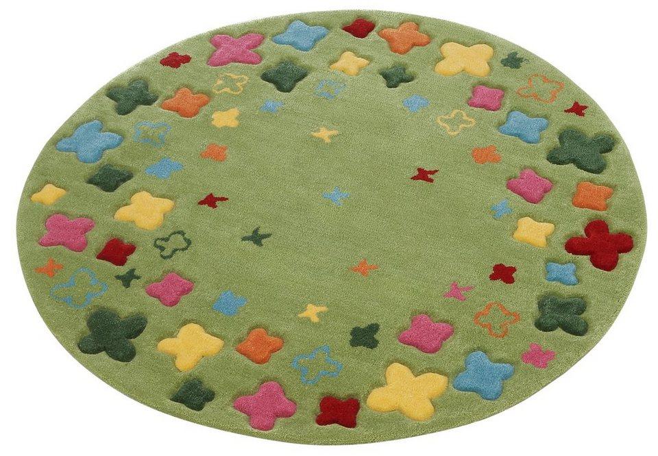 Kinderteppich grün rund  Kinderteppich »Bloom Field«, Esprit Home, rund, Höhe 10 mm online ...