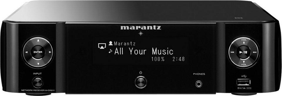 Marantz Melody Stream M-CR511 2 Audio-Receiver (Spotify, Airplay, WLAN, Bluetooth, NFC) in schwarz