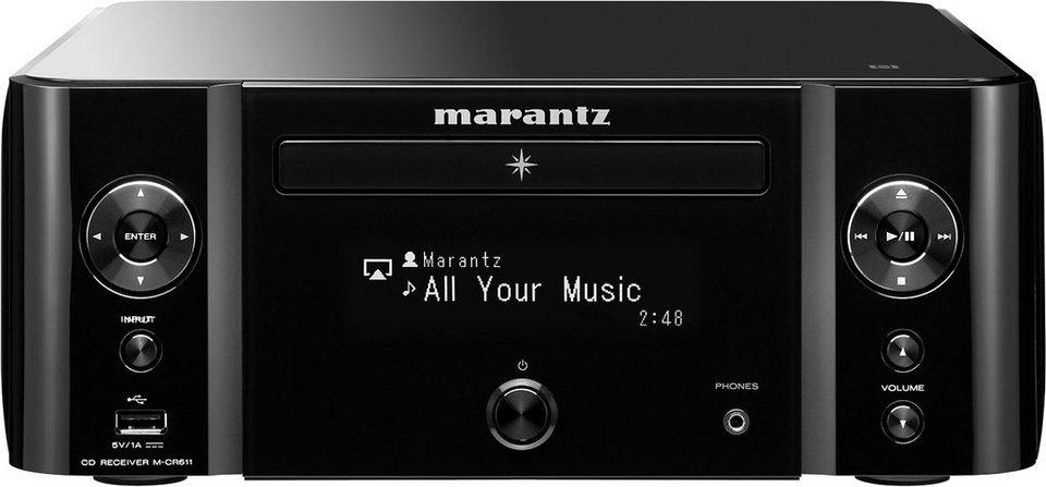 Melody Media M-CR611 2 Audio-Receiver (CD-Player, Spotify, Airplay, WLAN, Bluetooth, NFC) in schwarz