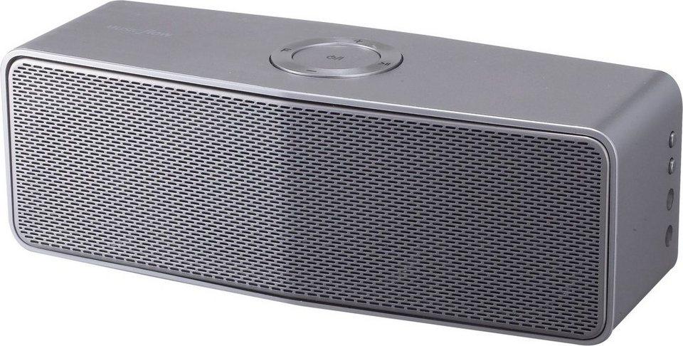 LG Music Flow NA9350 (H4) portabler Bluetooth-Lautsprecher, Bluetooth,NFC, Multiroom in silberfarben