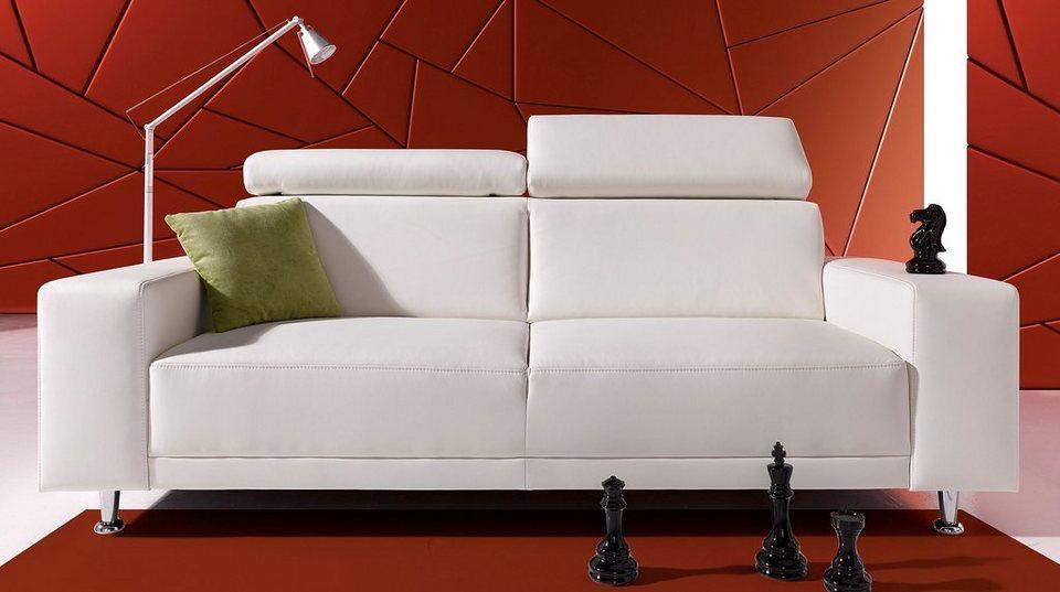 Sofa-Team 3-Sitzer, mit verstellbarem Kopfteil in altweiß