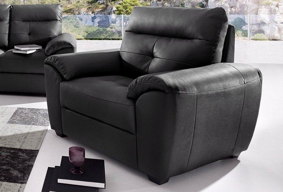 Softline Sessel, in Luxus-Kunstleder in schwarz