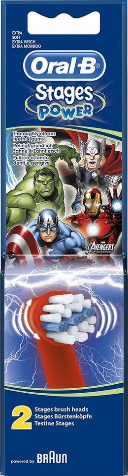 Oral-B Aufsteckbürsten Stages Power mit Marvel-Avengers-Figuren 2er Pack