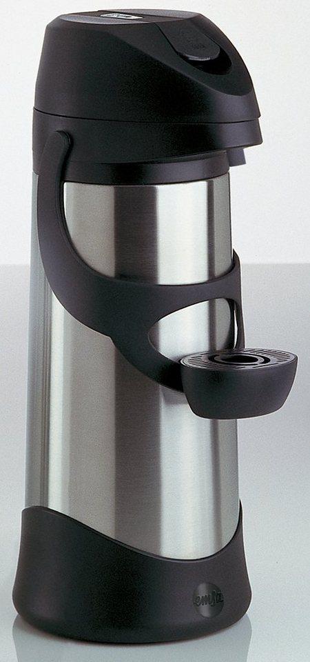Pump-Isolierkanne, Emsa, »PRESTO«, 3,0 L in silberfarben-schwarz
