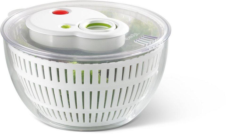 Salatschleuder, Emsa, »TURBOLINE« in transparent-weiß