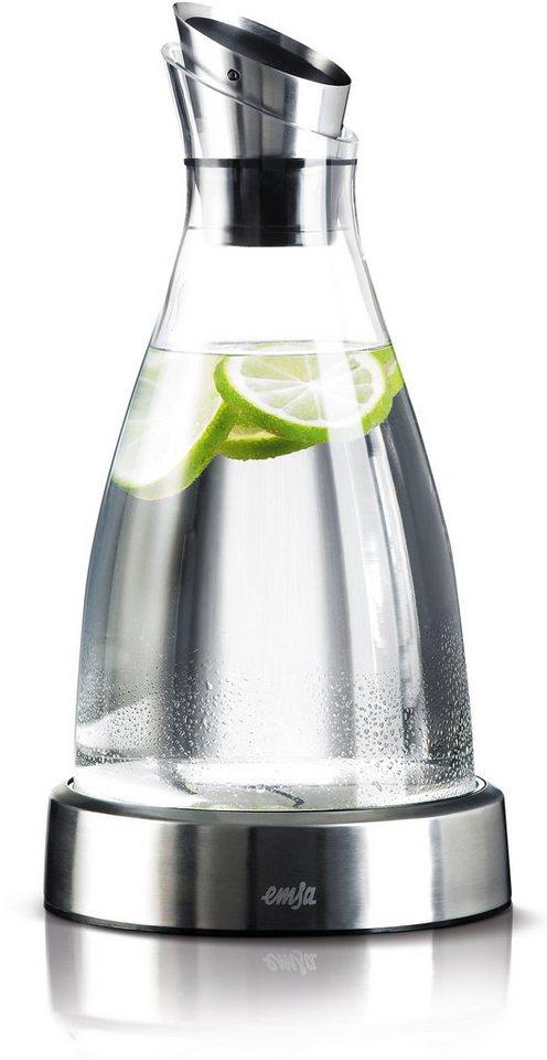 Kühlkaraffe, Emsa, »FLOW«, 1,0 l in Glas-Edelstahl