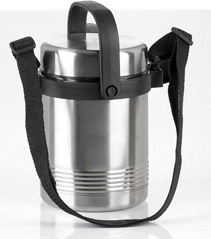 Isolier-Speisegefäß, Emsa, »SEANTOR THERMO LUNCH«, 1,4 l in silberfarben-schwarz