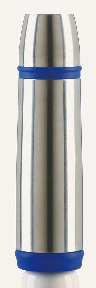 Isolierflasche, Emsa, »CAPTAIN«, 0,5 l und 1,0 l in silberfarben-blau