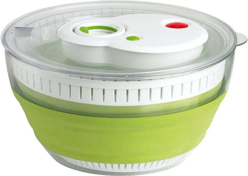 EDS-Salatschleuder, Emsa, »TURBOLINE« in transparent-grün