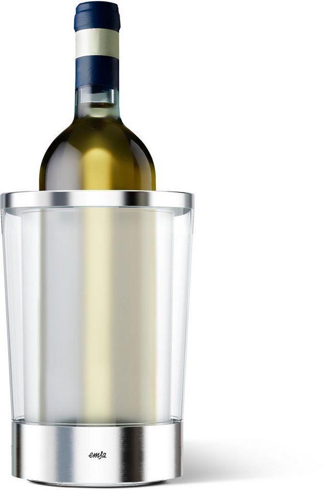 Flaschenkühler, Emsa, »FLOW Slim« in Edelstahl-San