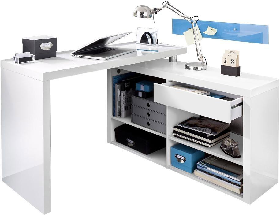 Eckschreibtisch weiß hochglanz  weiss-hochglanz-hochglanz Schreibtische online kaufen   Möbel ...
