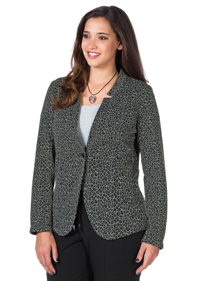 sheego Style Modischer Jerseyblazer in steingrau