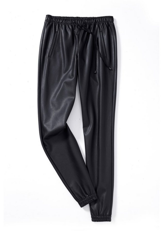 sheego Trend Schlupfhose in schwarz