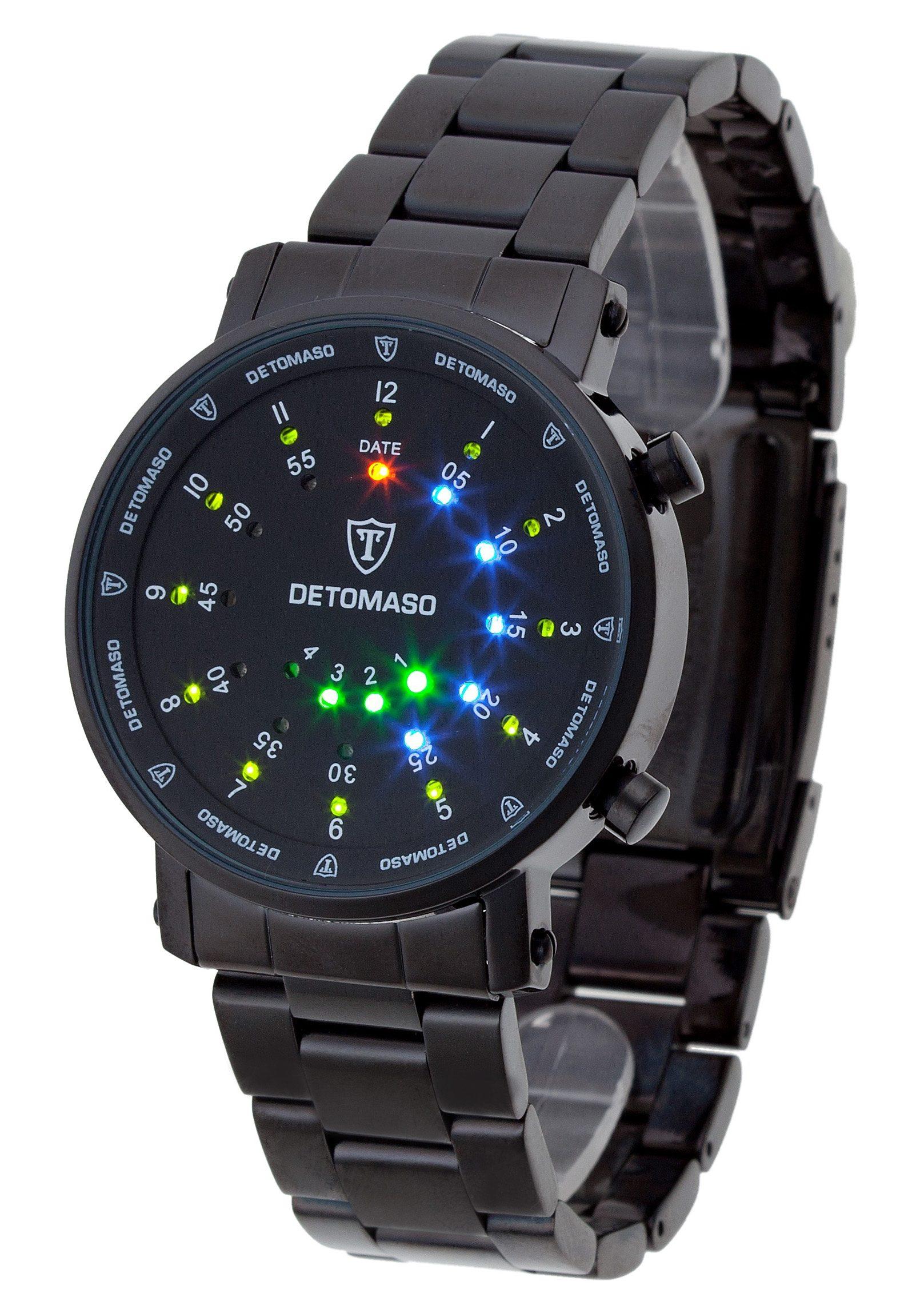 Detomaso Quarzuhr »Spacy Timeline 2, G-30730B«