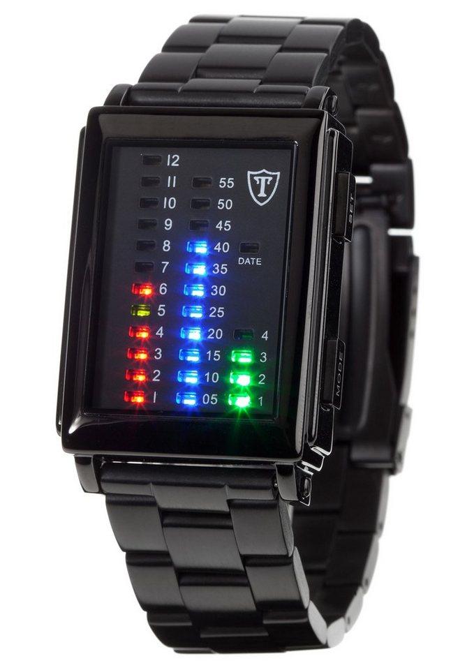 """Detomaso, Armbanduhr, """"Spacy Timeline 1, G-30723B"""" in schwarz"""