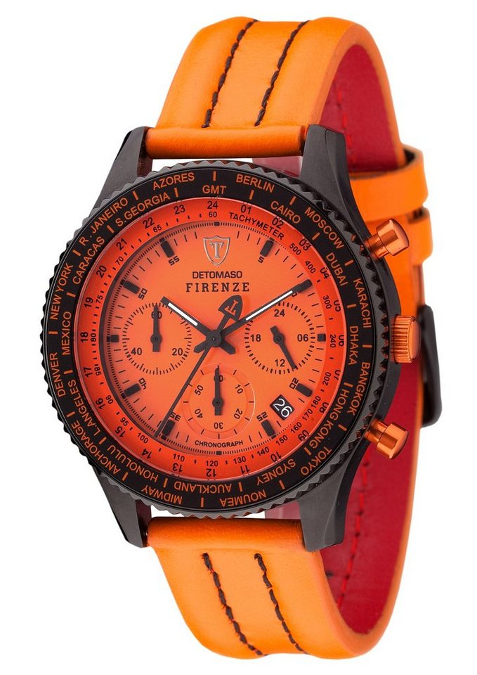 Detomaso Chronograph »Firenze, SL1624C-OR« in orange