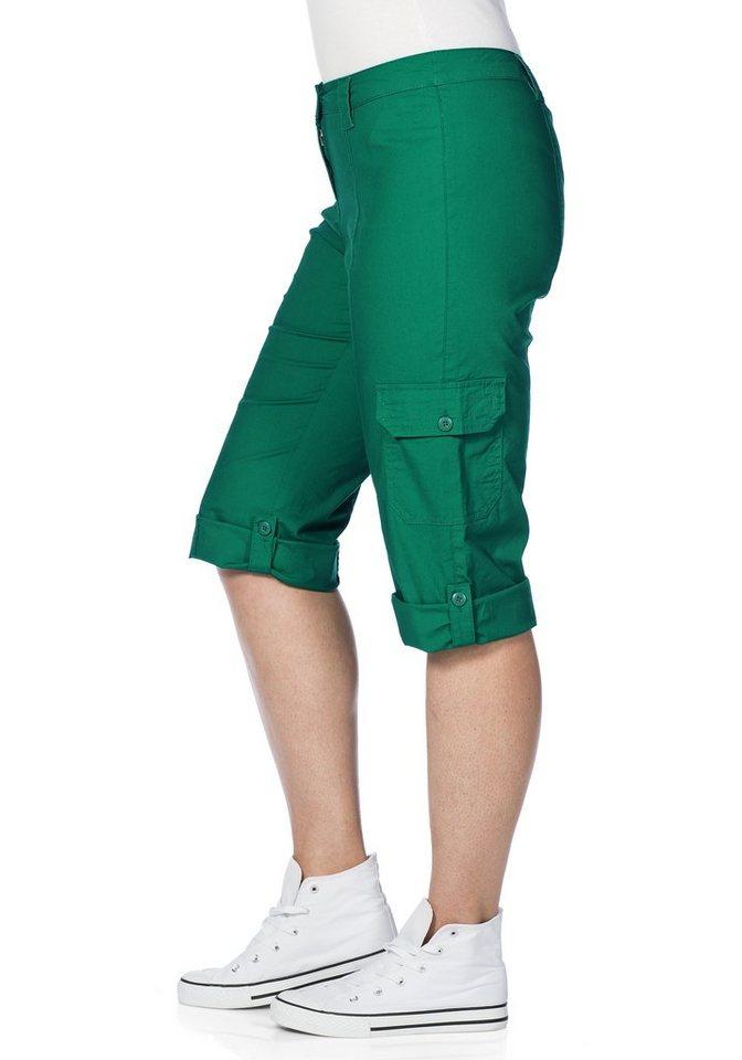 sheego Casual 3/4-Hose zum Krempeln in grün