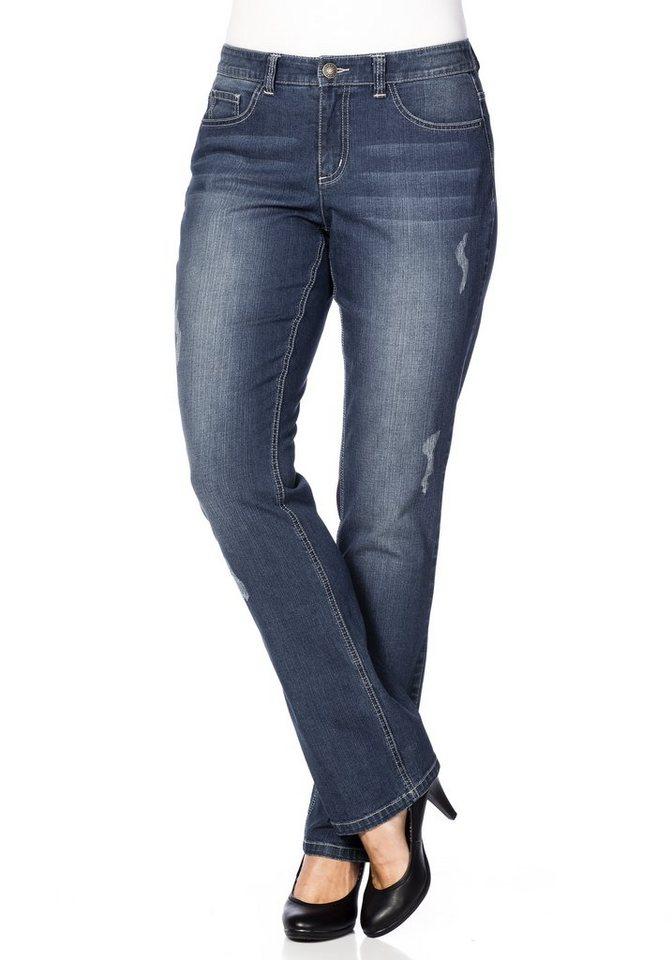 "sheego Denim Gerade Stretch-Jeans ""Lana"" in blue Denim"