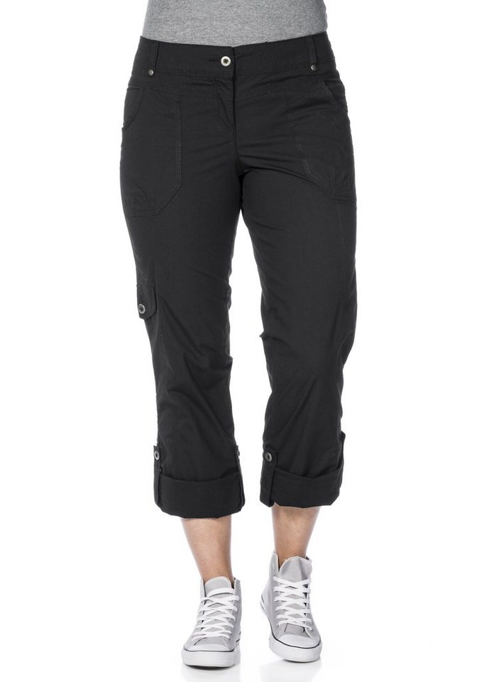 sheego Casual Gerade Stretch-Hose in schwarz