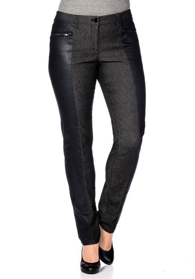 sheego Trend Hose »Die Schmale« in schwarz