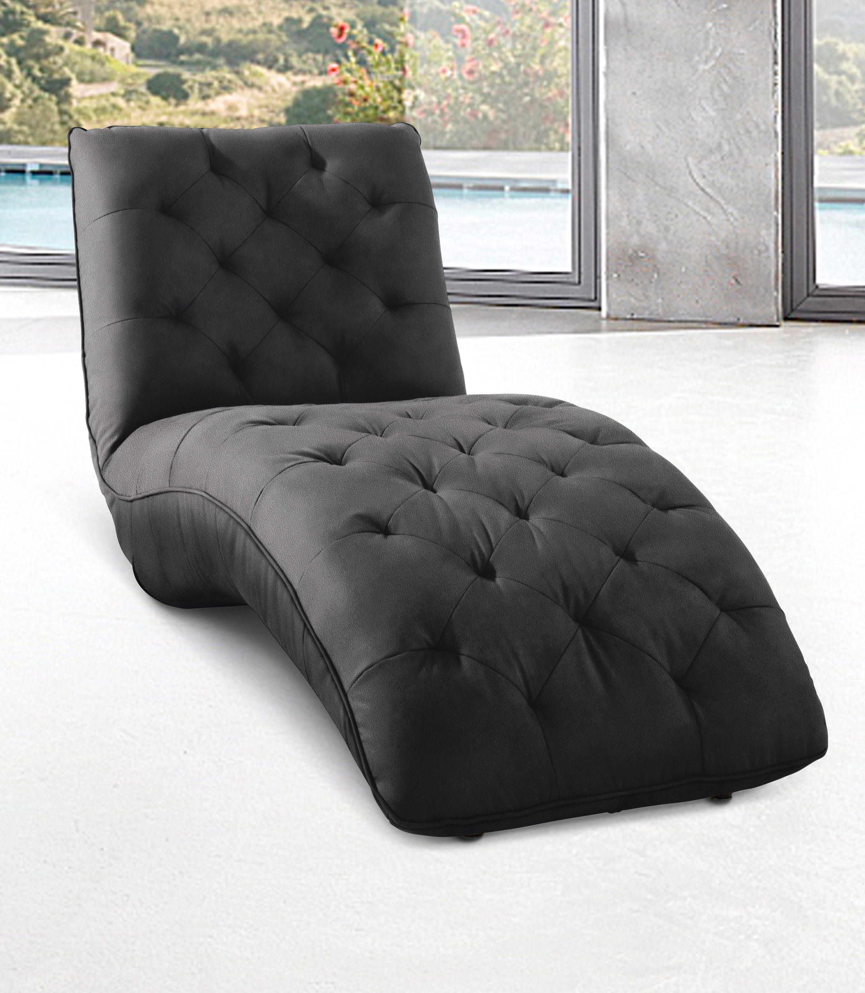 INOSIGN Relaxliege in Retro Optik | Wohnzimmer > Sessel > Relaxliegen | Kunstleder - Microfaser | INOSIGN