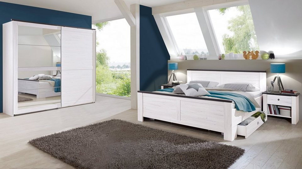 wimex schlafzimmer sparset mit schwebet renschrank 5 tlg. Black Bedroom Furniture Sets. Home Design Ideas