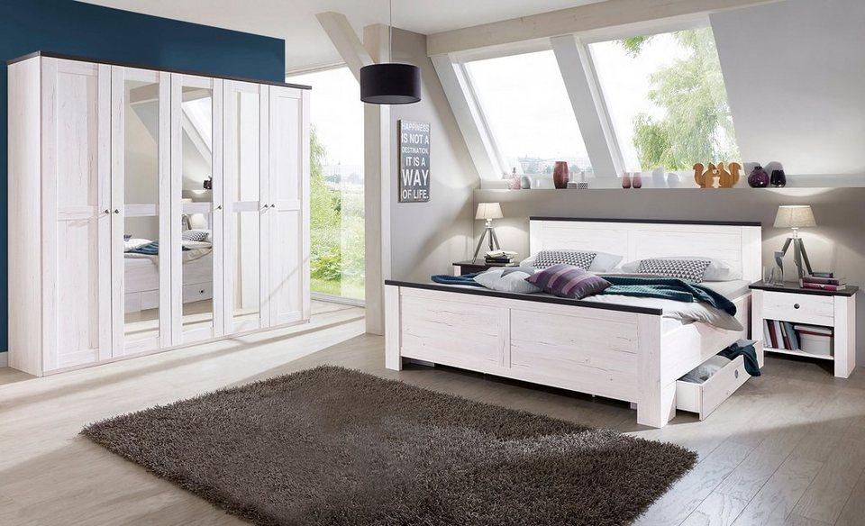 wimex schlafzimmer set chateau 5 teilig schrank mit. Black Bedroom Furniture Sets. Home Design Ideas