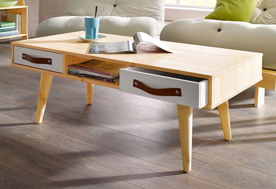 Karup Tisch in natur/hellgrau