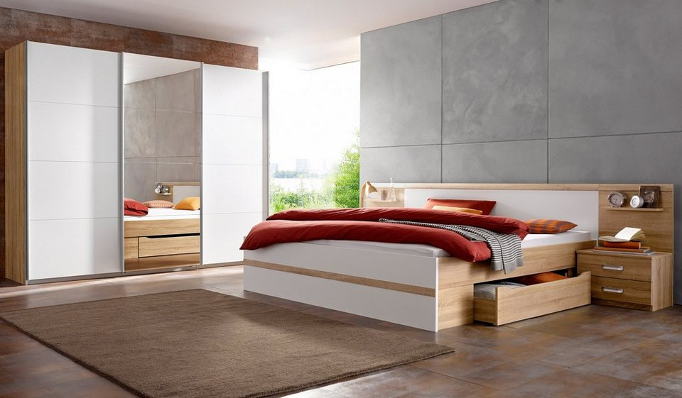 rauch schlafzimmer set mit schwebet renschrank 4 tlg online kaufen otto. Black Bedroom Furniture Sets. Home Design Ideas