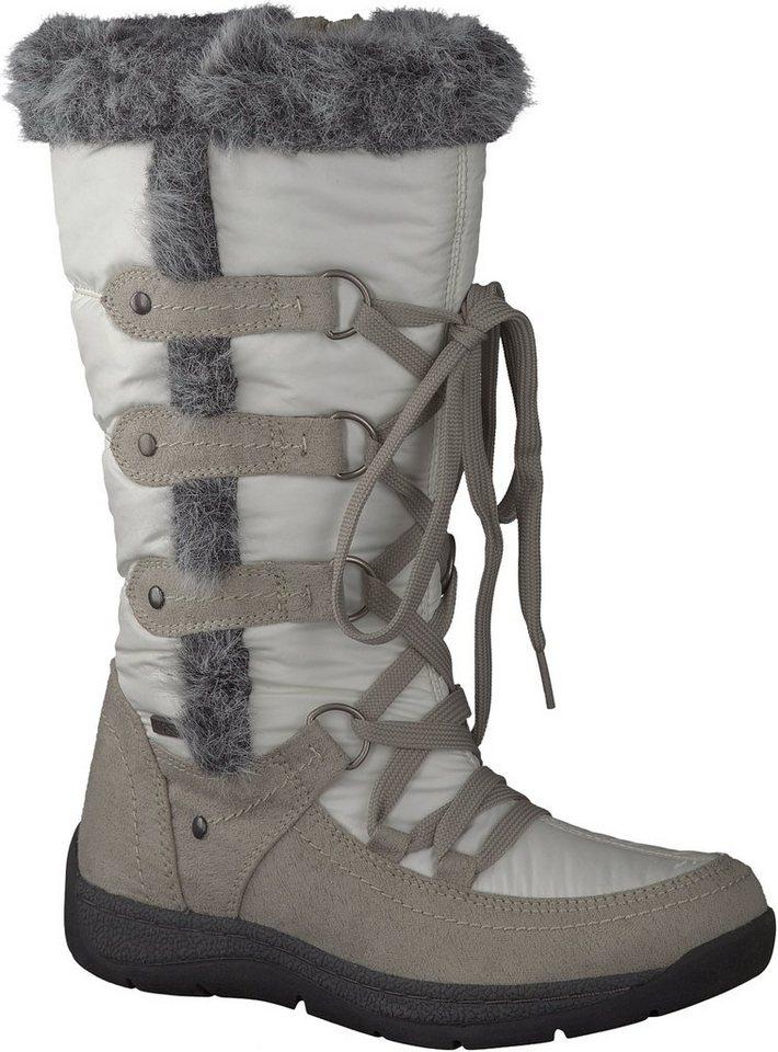 Woodstone Snowboots in weiss / kombiniert