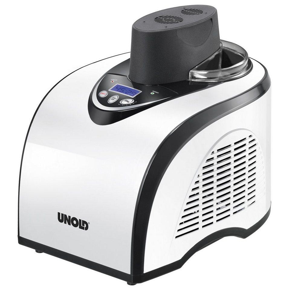Unold Eismaschine Polar 48840, für 1 Liter Eiscreme, 135 Watt in weiß