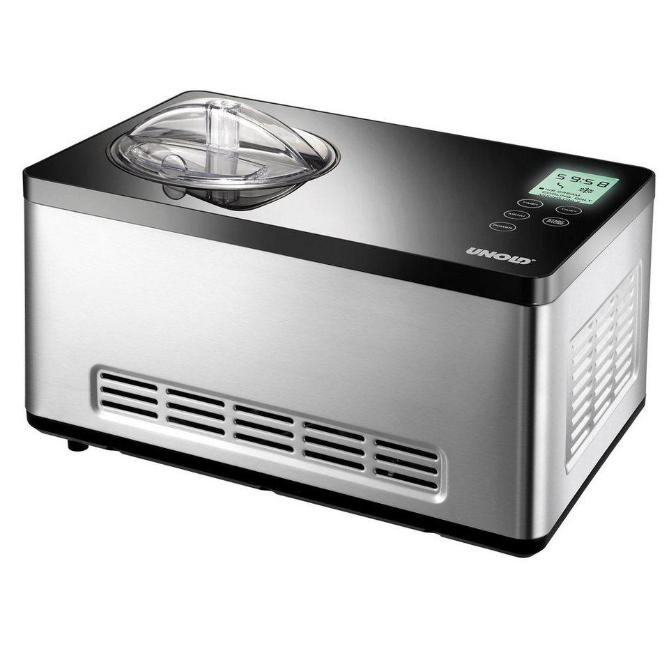 UNOLD® Eismaschine Gusto 48845, für 2 Liter, 180 Watt in Schwarz / Edelstahl