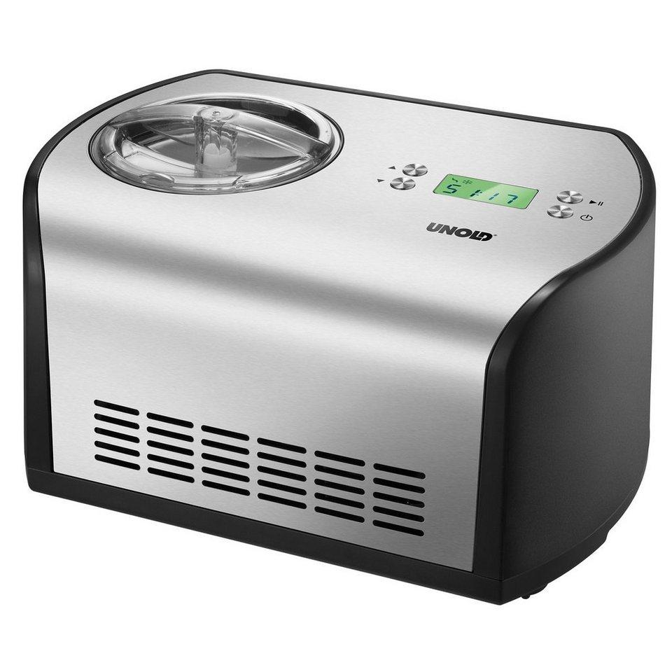 UNOLD® Eismaschine One 48865, für 1,2 Liter Eis, 135 Watt in Schwarz / Edelstahl