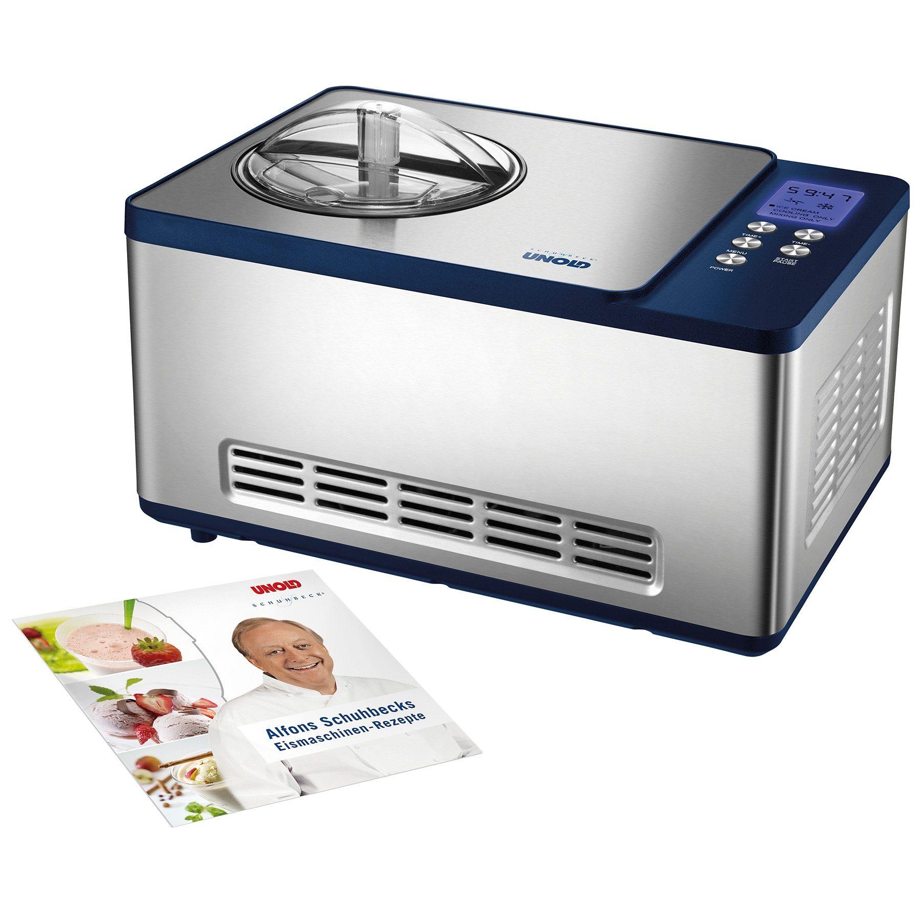 UNOLD® Eismaschine »Schuhbeck Exklusiv 48818«, für 1,5 Liter Eiscreme, 150 Watt