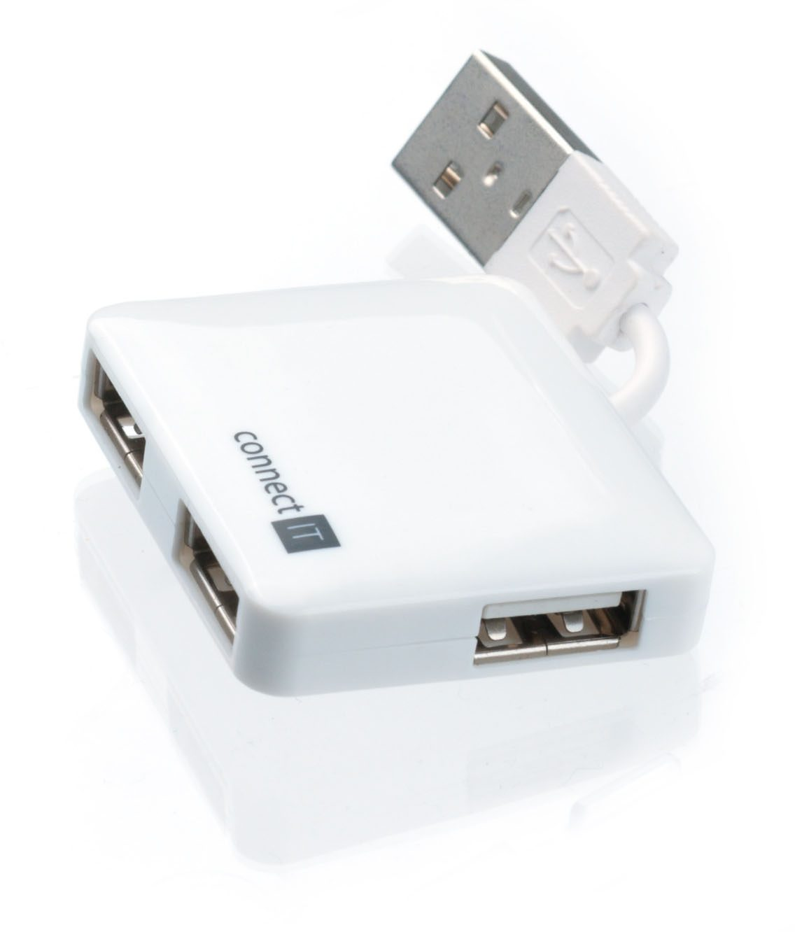 connect IT USB »2.0 connect IT Mini 4 Ports Weiss«