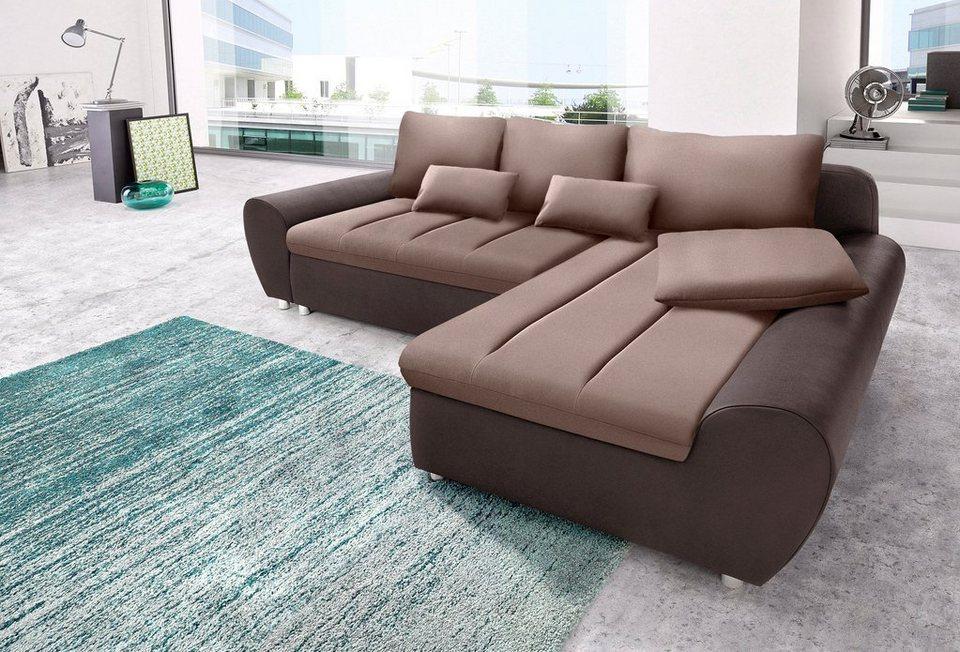 Sit&More Polsterecke »Bandos«, wahlweise mit Bettfunktion in braun/beige