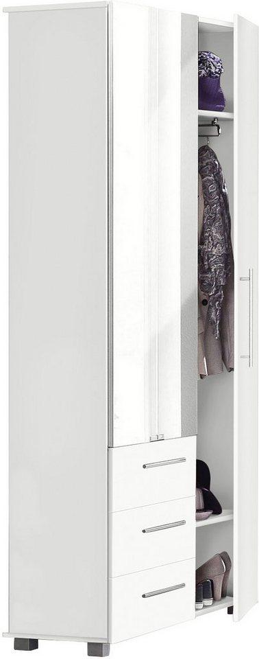 Schildmeyer Garderobenschrank »Danu«, mit Spiegel in weiß