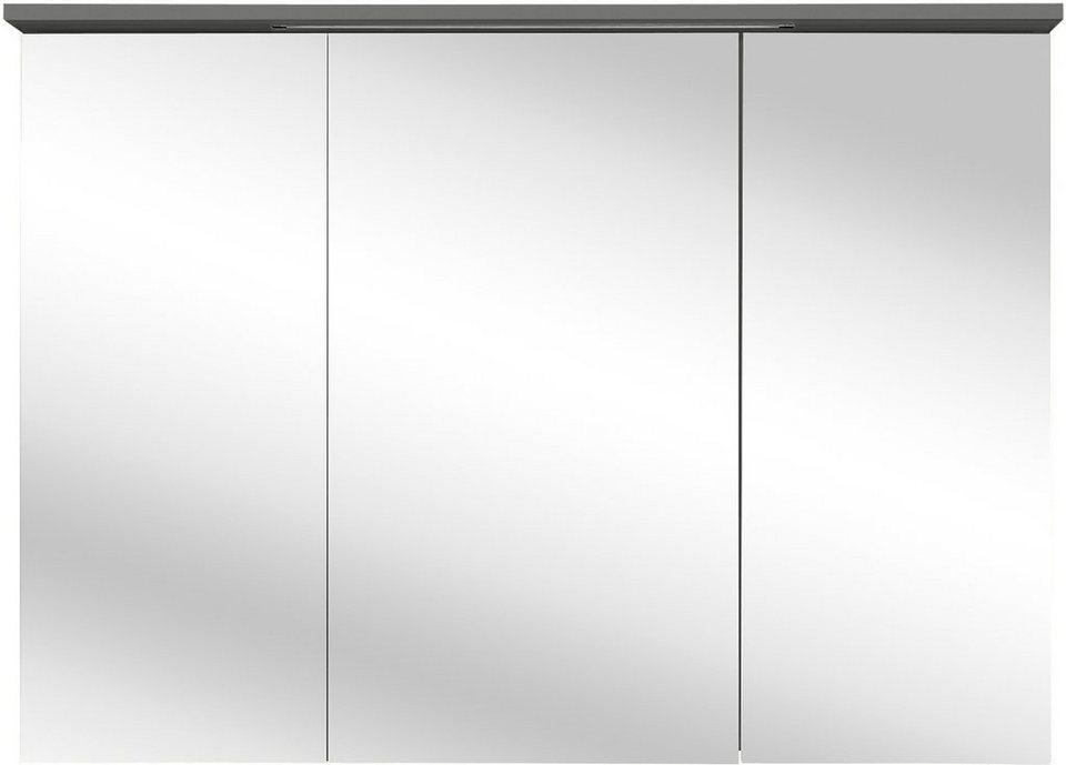 Schildmeyer Spiegelschrank »Profil 16« mit LED-Beleuchtung in basaltgrau