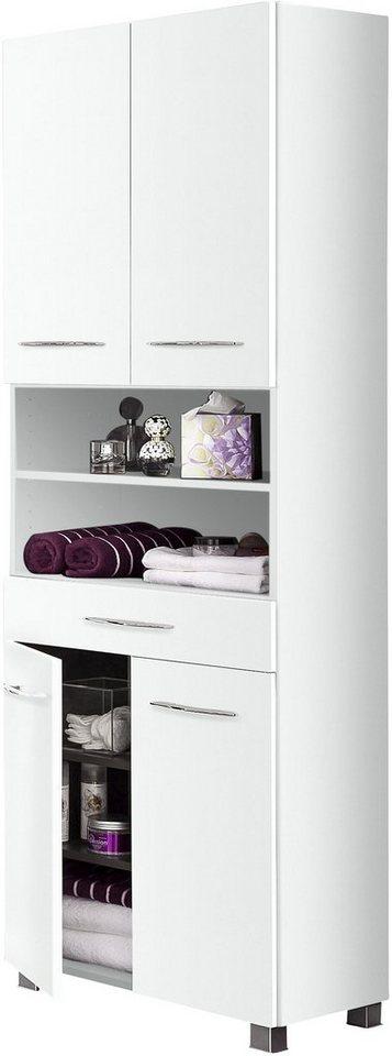 Held Möbel Hochschrank »Portofino« in weiß-weiß