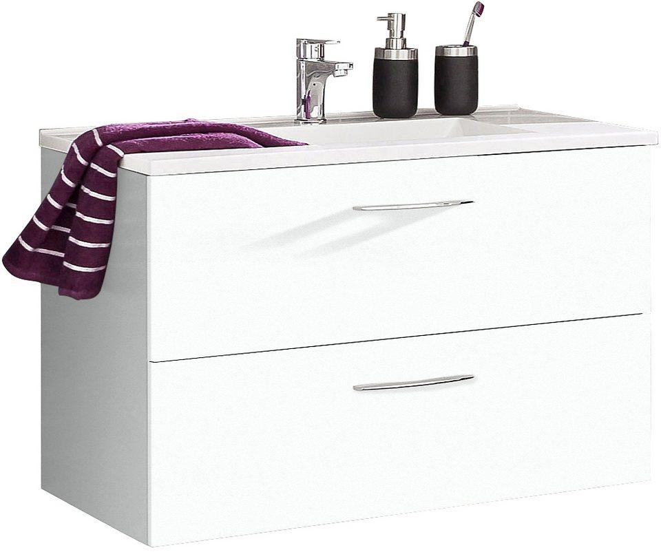 Held Möbel Waschtisch »Portofino« in weiß-weiß