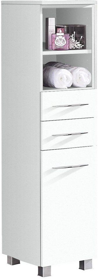 Held Möbel Midischrank »Portofino« in weiß-weiß