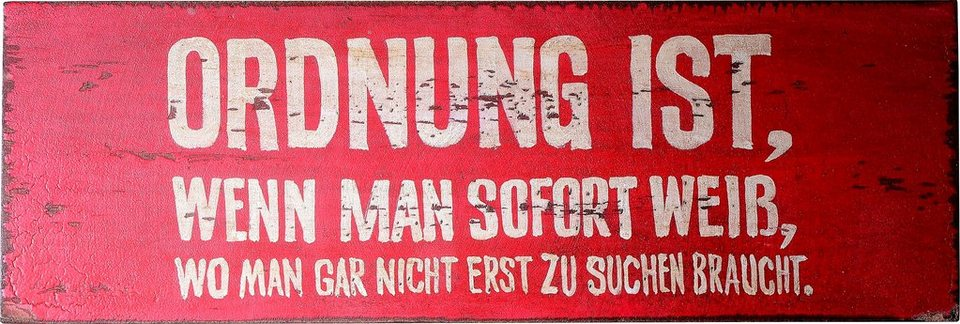 SIT, Wandbild, »Wall Art« in rot